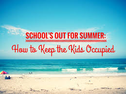 The summer holiday is upon us… activities to keep them busy!
